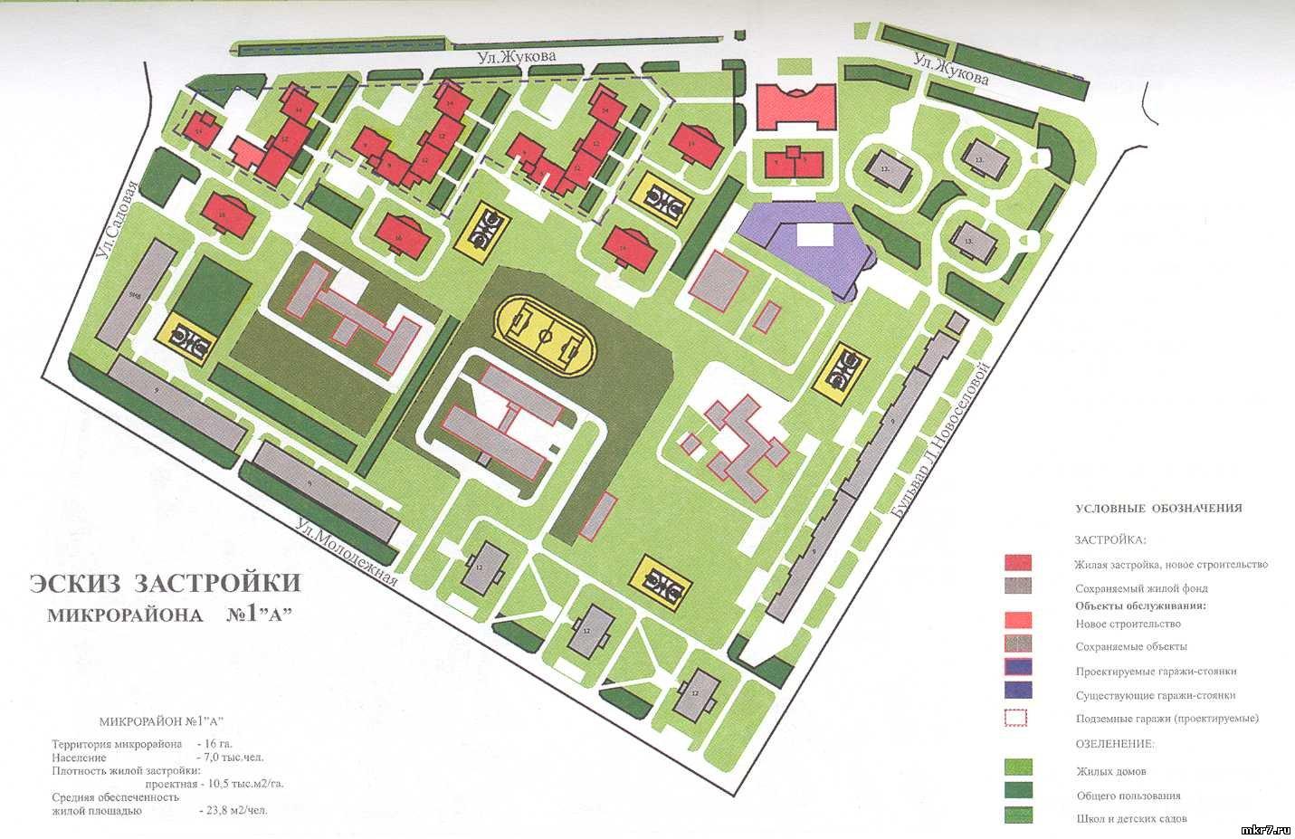 Картинка карты микрорайона